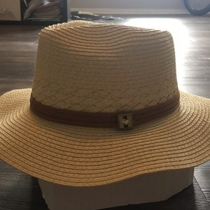 Stylish Natural & Leather Hat